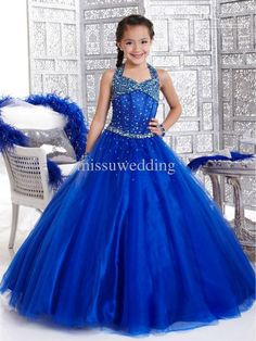 The black and white flower girl dresses which match the flowers- Royal Blue Flower Girl Wedding Party dresses Free shipping halter Ball gown Full length Organza Crys is offered in missuwedding and on DHgate.com childrens party dresses along with cute flower girl dresses are on sale, too.