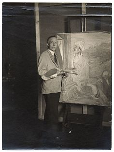 Henry Ossawa Tanner with palette and easel, from the Henry Ossawa ...