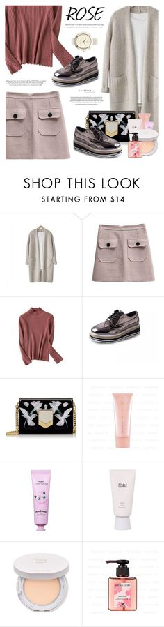 """YesStyle Polyvore Group "" Show us your YesStyle "" (Get The Look: Winter Style)"" by defivirda ❤ liked on Polyvore featuring Jimmy Choo, Tony Moly, Hanyul and N:U - Not the Usual"