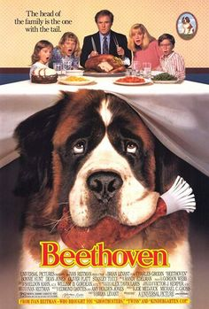This one is on our re-watch list for sure. A giant (as in 185 pounds) but friendly St. Bernard named Beethoven causes a few disasters in his home, but the family finally starts getting comfortable with him when a vet tries to set them up. Movie Gift, Movie Tv, Movies To Watch, Good Movies, Bonnie Hunt, Harriet The Spy, Dean Jones, George Of The Jungle, Grumpy Old Men