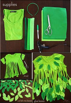 No-Sew Leaf Fairy Halloween Costume Fairy Halloween Costumes, Up Costumes, Halloween Crafts, Sewing Hacks, Sewing Crafts, Sewing Projects, Sewing Clothes, Diy Clothes, Tree Costume