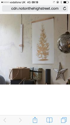 Christmas is golden, poster by www.onemustdash.com, 59x70cm, £25