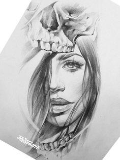 Chicano Art Tattoos, Body Art Tattoos, Sleeve Tattoos, Indian Feather Tattoos, Feather Tattoo Design, Girl Face Drawing, Woman Drawing, Jordan Logo Wallpaper, Tribal Makeup