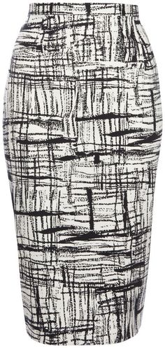 3104c8c3b505b F F Scratch Print Pencil Skirt on shopstyle.com.au