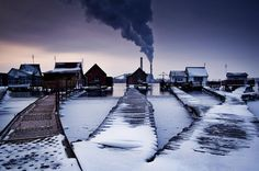 Nuclear winter [by Zoltán Balogh] // Bokod lake