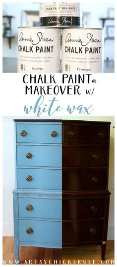 Giverny Chalk Paint Chest Makeover with White Wax Giverny Chalk Paint Chest Makeover with White Wax Dalila Martins dalilamartins RESTAUROS Love this Paint and Wax Giverny Chalk Paint nbsp hellip Painting techniques Chalk Paint Projects, Chalk Paint Furniture, Diy Furniture Projects, Furniture Makeover, Dresser Makeovers, Furniture Design, Diy Projects, Provence Chalk Paint, Furniture Painting Techniques
