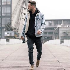 Denim on black. Follow link in bio to shop the complete Look  #mensfashion #menstyle #men #mensfashion #mensfashionpost #menstyleguide #mensfashionreview #mensclothes #mensfashionblogger #menwithstyle #menwithclass #menwithstreetstyle #menswear #mensstyle #lotd #ootd #outfit #look #lookoftheday #outfitoftheday #style #guyfashion #streetstyle #streetfashion #denim