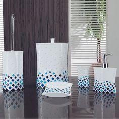 Mavi Mozaik Banyo Takımı
