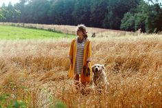 vintage yellow raincoat, striped dress