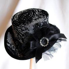 Velvet Sparkles Mini Top Hat by RagDolliesMadhouse on deviantART