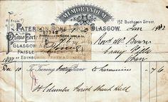 1902 Paterson Sons & Co, 152 Buchanan Street, Glasgow