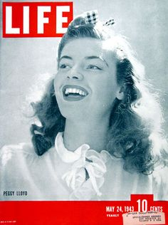 1944 original vintage Life magazine cover featuring Broadway actress and TV director Peggy Lloyd.