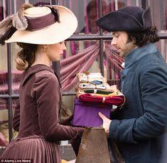 Poldark: Aidan Turner's Ross was reunited with Heida Reed's Elizabeth on the set of Poldark in Wiltshire on Tuesday