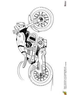 Une moto de course spéciale appelée speedway colorier