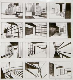 StoryBoard: Explaining the spaces of a building Croquis Architecture, Architecture Sketchbook, Concept Architecture, Architecture Design, Storyboard, Perspective Drawing Lessons, Thumbnail Sketches, Interior Sketch, Interior Design