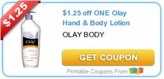 $1.25 off ONE Olay Hand & Body Lotion