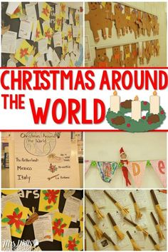 Christmas Traditions Around the World in kindergarten. This post will show you how my kindergarten class investigated different Christmas customs from around the world. Kids loved the different crafts and traditions they learned. Around The World Theme, Celebration Around The World, Holidays Around The World, Christmas Crafts Around The World, Holiday Celebrations Around The World, Preschool Christmas, Preschool Activities, Multicultural Activities, Preschool Boards