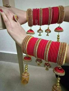 Handmade Silk thread Bridal Chuda & Bangles made by Indhra Thread - Authindia The Bangles, Silk Bangles, Bridal Bangles, Bridal Jewelry Sets, Indian Bangles, Silver Bracelets, Indian Jewelry Earrings, Indian Jewelry Sets, Jewelry Design Earrings