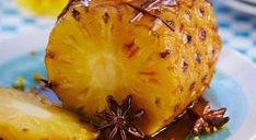 Portuguese Roasted Pineapple with Cinnamon - Easy Ethnic Recipes Fruit Recipes, Sweet Recipes, Dessert Recipes, Cooking Recipes, Healthy Recipes, Roasted Pineapple, Cinnamon Recipes, Portuguese Recipes, Fruit Smoothies