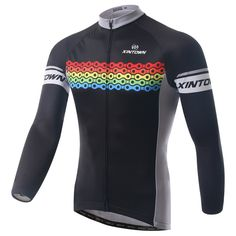 XINTOWN Outdoor Cycling bike jersey chain Sportswear Top Bicycle long sleeve cycling jerseys Long cloth Bicycle maillot cyclists #Affiliate