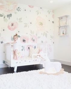 Project Nursery On Instagram Can T Stop Won With Our Love For This Wallpaper And Paired That Crib It S A Match Made In Heavennnnnn
