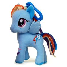 My Little Pony Friendship Is Magic 3 Inch Rainbow Dash Plush Clip Figure - Radar Toys