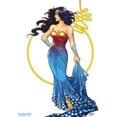Wonder Woman Dress Designs ❤ liked on Polyvore featuring wonder woman and dc