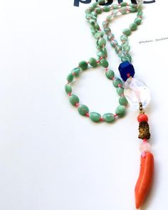 Inspired by Tropical Rain & Moments of Transformation. Made with: Jade Royal Blue Agate Precious Crystal Quartz Gold Hematite Coral Druzy Agate Precious Moonstone Length: Beaded Necklace, Beaded Bracelets, Quartz Crystal, Exotic, Rain, Crystals, Gold, Jewelry, Beaded Collar