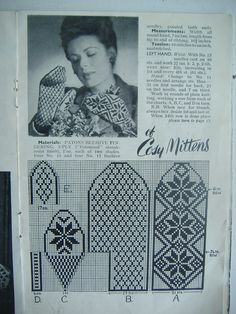 Bilderesultat for knitted mittens pattern Knitting Charts, Lace Knitting, Knitting Stitches, Knitting Patterns Free, Stitch Patterns, Knitted Mittens Pattern, Knit Mittens, Mitten Gloves, Scandinavian Pattern