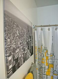 so i wanna do a city theme bathroom, i have a new york painting ill put up love the curtain