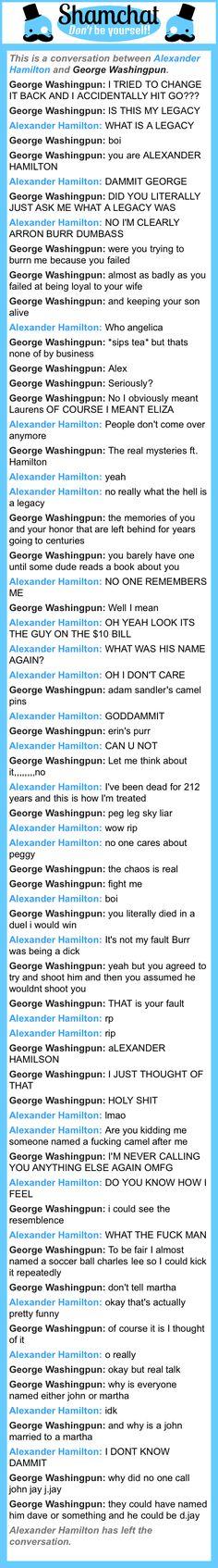 A conversation between George Washingpun and Alexander Hamilton
