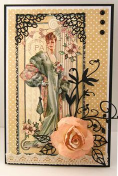 This is an Easel card using Graphic 45 paper.