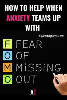 FOMO can be a truly debilitating struggle for children with anxiety. Learn how FOMO can grow anxiety and what to do when it happens. The fear of missing out is real.