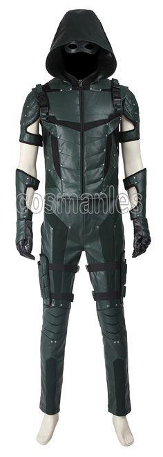 Hero man Green Arrow season 1 Oliver Queen Pearl leather Uniform Cosplay Costume