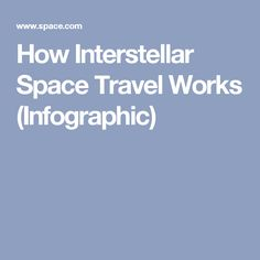 How Interstellar Space Travel Works (Infographic)