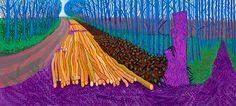 Winter timber, 2009, by David Hockney.