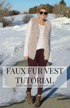 Faux Fur Vest Tutorial #myDIYcloset