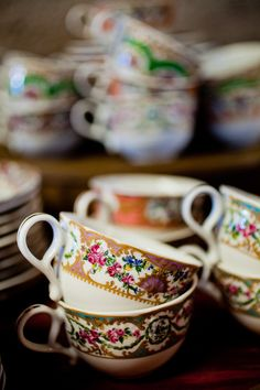 vintage teacups ~ my roots are speaking to me.....Nana I love you and the tea cups you have brought into my life!