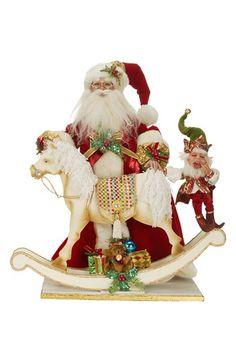 Mark Roberts 'Rocking Horse Santa' Figurine available at #Nordstrom