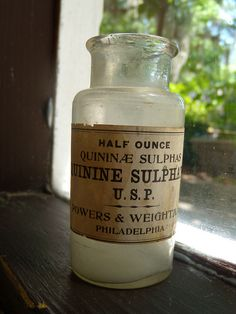 Civil War era bottle with label by Crystal M