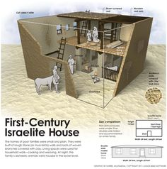 Frist-Century Israelite House #bible #study #infographic (the link doesn't take you anywhere…just a photo)
