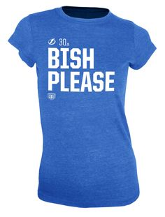 Women's Tampa Bay Lightning Old Time Hockey Bish Please Social Inspired T-Shirt