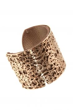 eden I rose gold plated cuff lined with leather I designed for NEW ONE I NEWONE-SHOP.COM