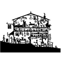 A beautiful print of my original intricate cross-section papercut of a travellers' inn, signed and dated on the front by me. The print is full of tiny details like the cat by the woodpile eyeing the birds, shelves full of bottles and pans and so mu. Paper Cutting, Cut Paper, Vinyl Cutting, Paper Art, Paper Crafts, Cross Section, Design Graphique, Illustrations, Paper Quilling