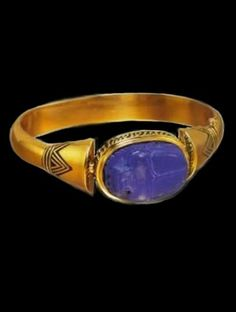 ♔ Ancient Egypt ~ 18 carat gold ring