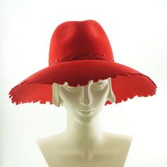 Wide Brim Hat Fedora Hat for Women  UnHippy by TheMillineryShop, $275.00