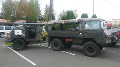 It might look big, but this Pinzgauer Trailer Supported Adventuring setup is actually reasonably Compact.