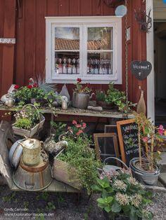 Grassagården Cafe in Strängnäs, Sweden - http://explorationvacation.net/2016/08/fabulous-fika-at-cafe-grassagarden-strangnas-sweden/