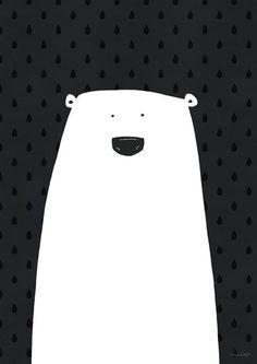 Polar Bear Illustration ★ Find more at http://www.pinterest.com/competing/: