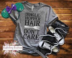 Dinglehopper Hair Don't Care Shirt | Disney vacation disney tank disney shirts family shirts Ariel Little Mermaid ariel tank top